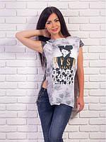 Футболка туника модная женская 42-48, доставка по Украине