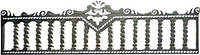 Забор железобетонный декоративный плиты забора 7-В, 3-С