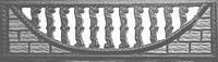 Забор железобетонный декоративный плиты забора 1-C, 2-C