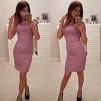 Женское сиреневое летнее платье