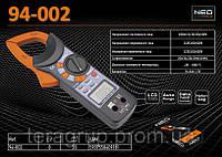Клещи токоизмерительные цифровые 2-600A, NEO 94-002