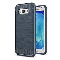 Чехол Carbon для Samsung J7 2015 J700 J700H бампер оригинальный Blue