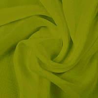 Тюль шифон однотонный, цвет оливковый 124 (4м*2,48м) (У)