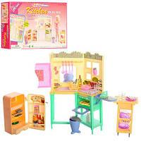 Мебель 21016 (36шт) кухня, мойка, плита, холодильник, продукты, посуда, в кор-ке, 31,5-21-6см
