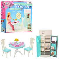 Мебель 2812 (36шт) кухня, стол, стул 2шт, холодильник, посуда, в кор-ке, 26-24-25см