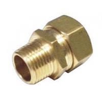 Муфта труба-наружная резьба (папа) 15*3/4 15 мм соединительная для трубы гофрированной из нержавеющей стали