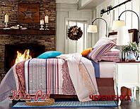 Двуспальный набор постельного белья 180*220 из Сатина №009AB KRISPOL™