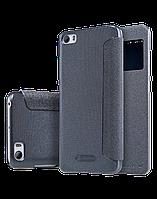 Xiaomi Mi5s Чехол-книжка NILLKIN - Spark series (Black) (грязеотталкивающий износостойкий материал; окошечко;