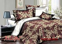 Двуспальный набор постельного белья 180*220 из Сатина №057 KRISPOL™