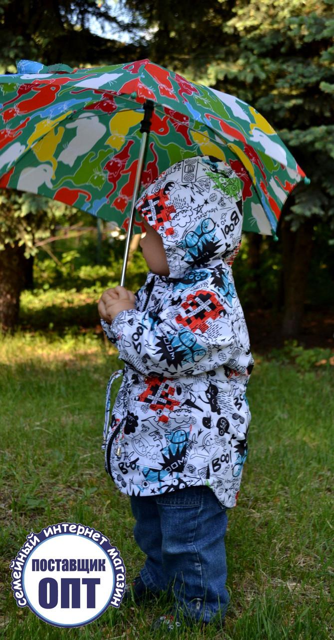 Демисезонная курточка - парка принты для мальчика