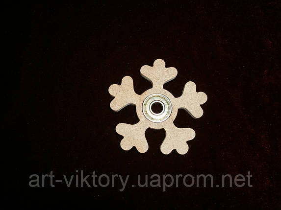 Спиннер игрушка снежинка (7,5 х 7,5 см), декор, фото 2