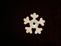 Спиннер игрушка снежинка (7,5 х 7,5 см), декор