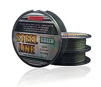 Шнур BratFishing Steel Line Green 125м 0,23мм