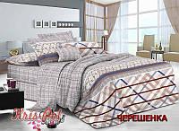 Двуспальный набор постельного белья 180*220 из Сатина №137 KRISPOL™