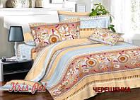 Двуспальный набор постельного белья 180*220 из Сатина №608 KRISPOL™
