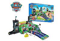 """Детский игровой набор Паркинг """"Щенячий Патруль"""" (ZY-568) -2 этажа, машинки 4шт., дорожные знаки, в коробке"""