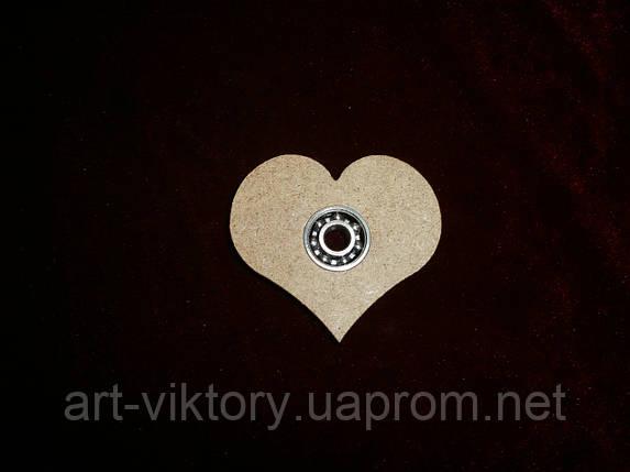 Спиннер игрушка сердце (6 х 5 см), декор, фото 2