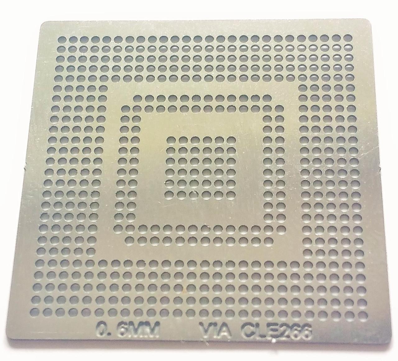 Трафарет BGA VIA CLE266, шар 0,6 мм