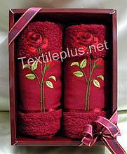 Полотенеца махровые - Febo - Rose - 100% хлопок - 2шт. - 50*90 Турция - (kod 1782)