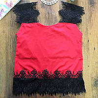 Майка Топ блузка на бретельки Ресничка