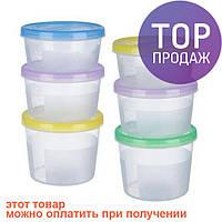 Набор контейнеров судочков для продуктов 3 в 1 500мл/700мл/1,1л PT-83139 / Продуктовые контейнеры
