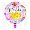 Фольгированный шар С днем рождения, 44 см