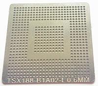 Трафарет BGA TSX188-B1A02-L, шар 0,6 мм