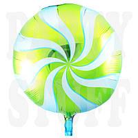 Фольгированный шарик Леденец зеленый, 44 см