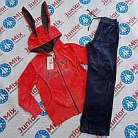 Велюровый детский спортивный  костюм для девочек ALMAR.ПОЛЬША