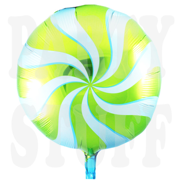 фольгированный шарик леденец зеленый