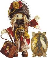 "Текстильная каркасная кукла ""Миледи"""