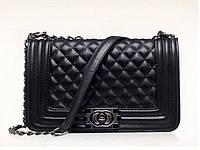 Женская сумка через плечо Шанель средняя