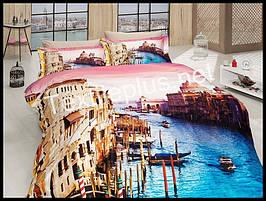 Комплект постельного белья First Choice 3D сатин Venedik Турция (kod 3104)