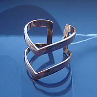 Серебряное позолоченное фаланговое кольцо Стрела