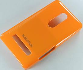 Чехол пластиковый на Nokia Asha 210 Bubble Pack Оранжевый