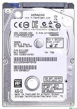 "Жесткий диск Hitachi 500Gb  SataIII 2,5"""