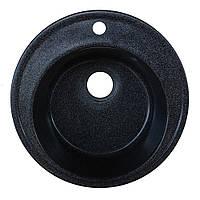 Гранитная мойка графит Platinum диаметр 51 см круглая