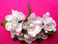 Цвет яблони из ткани уп. 72 шт. Белый