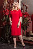 Женское нарядное платье с оригинальным декольте