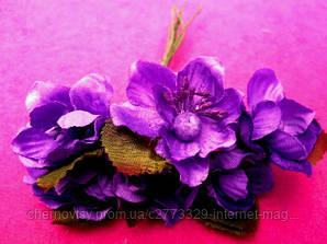 Цвіт яблуні з тканини уп. 72 шт. Бузковий