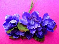 Цвет яблони из ткани упаковкой 72 шт Синие