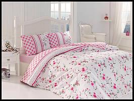 First Choice комплект постельного белья бязь Eliza pembe семейка(kod 3700)