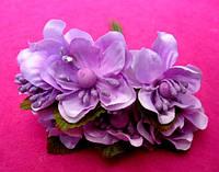 Цвет яблони из ткани уп. 72 шт. Светло-сиреневый