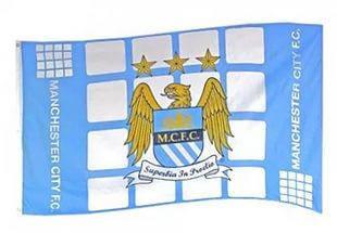 Клубний прапор Манчестер Сіті (MC FC) Plaza flag (official product)