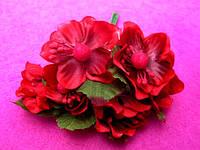 Цвет яблони из ткани упаковкой 72 шт Красные