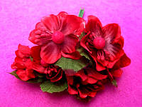 Цвет яблони из ткани уп. 72 шт. Красный