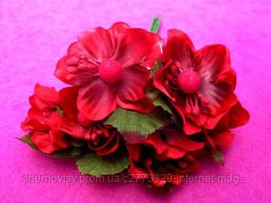 Цвіт яблуні з тканини уп. 72 шт. Червоний