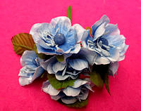Цвет яблони из ткани упаковкой 72 шт Голубые