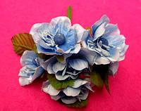 Цвет яблони из ткани уп. 72 шт. Голубой