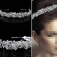 Обруч диадема для волос свадебный